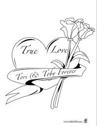 coloring pages of heart roses and hearts coloring pages funycoloring