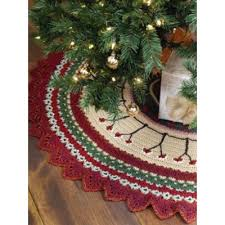 caron tree skirt crochet pattern yarnspirations