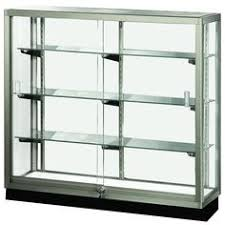 All Glass Display Cabinets Home 5ft Wall Mounted Display Case W 4 Top Halogen Lights U0026 Mirror