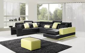 Contemporary White Leather Sectional Sofa by C6018 Modern Leather Sectional Sofa