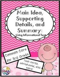 main idea lessons and task cards main idea task cards and cards