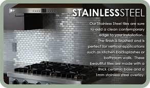 2 x 2 in stainless steel backsplash polished metal mosaic tile
