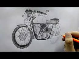 how to draw a motorcycle royal enfield youtube