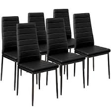 chaise cuisine noir 6x chaise de salle à manger ensemble salon design chaises cuisine