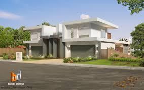 Home Designs Queensland Australia 3d External Artist Impression Of A Duplex Design For A Building