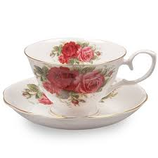 country roses tea set country tea cup and saucer set for 2 with gift box the