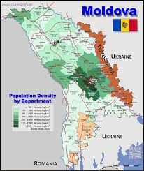 where is moldova on the map map moldova popultion density by administrative division