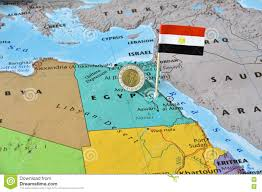 Map Of Egypt In Africa by Flag Of Egypt Egyptian Flag Stock Photo Image 44907813