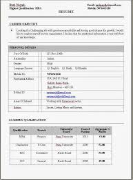 Resume Examples For Experience by Sample Resume For Mba Finance Experience