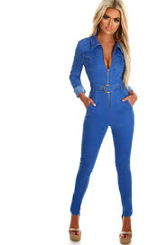 sleeve denim jumpsuit turning heads denim zip front sleeve jumpsuit pink boutique