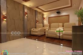 kerala home theater interior set up kerala home design and floor