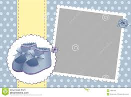 template for baby s card stock image image 19507561