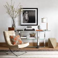 Living Room Console Tables Mercer Glass Console Table Williams Sonoma