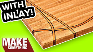 Free Easy Wood Projects For Beginners by Diy Cutting Board With Inlay Easy Woodworking Project Youtube
