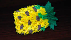 3d origami beginner tutorial 3d origami pineapple tutorial instructions for beginners youtube