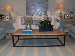 wood top coffee table metal legs large coffee table with wooden top and metal legs