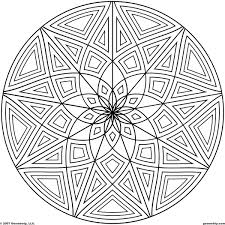 geometric pattern coloring page free download