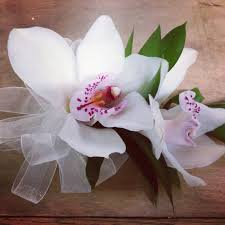 white orchid corsage white cymbidium orchid corsage wedding inspiration