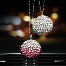 rear view mirror charms rhinestone bling hanging
