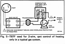 two wire thermostat wiring diagram 2 furnace heat only boiler