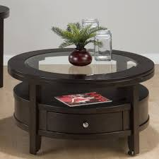 choosing a round wooden coffee table for cozy look coffee table
