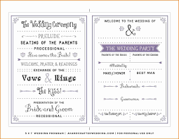 wedding programs templates new post free one page wedding program templates for microsoft