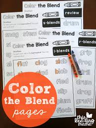 color the blends phonics pages phonics colors and reading