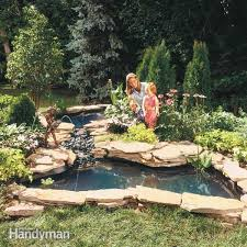 How Do You Spell Backyard Build A Backyard Pond And Waterfall Family Handyman