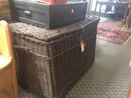 furniture wicker trunk stacking trunks distressed trunk