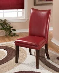 faux leather dining room chairs bright and modern red leather dining room chairs all dining room