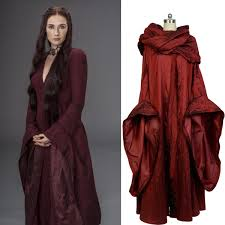 costume of witch got game of thrones the red woman witch melisandre cosplay