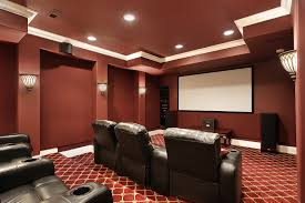 home theater stage home theater with wall sconces and wooden low stage types of