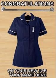 Congratulations Nurse Card Congratulations New Job Ward Sister Nurse Piddp1 A5