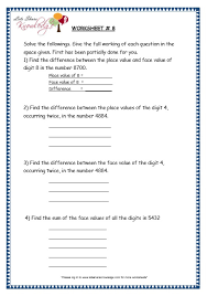 grade 3 maths worksheets 4 digit numbers 1 3 finding the face