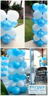 How To Make Birthday Decorations At Home Best 25 Frozen Balloon Decorations Ideas On Pinterest Balloon