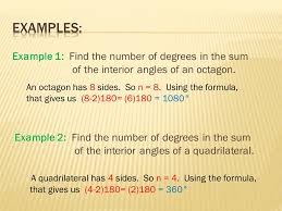 Formula For Interior Angles Of A Polygon Section 3 5 Polygons A Polygon Is A Closed Plane Figure Made