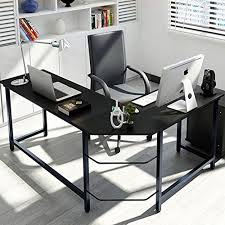 Modern L Shaped Computer Desk Tribesigns Modern L Shaped Desk Corner Computer Desk Pc Laptop