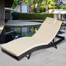 Chaise Lounge Chair Amazon Com Giantex Adjustable Pool Chaise Lounge Chair Outdoor