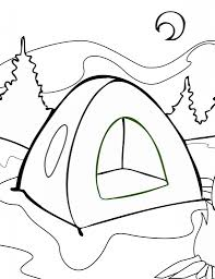 camping coloring pages in mountain coloringstar