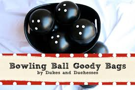 Diy Bowling Favors by A Bowling Bowling Goody Bags Dukes And Duchesses
