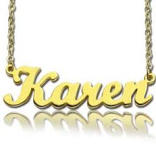 Customized Name Necklace Custom Soild Gold Name Necklace Customized Personalized Name