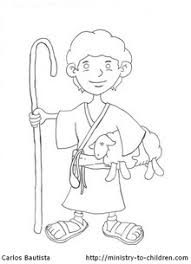 david the shepherd boy coloring pages funycoloring