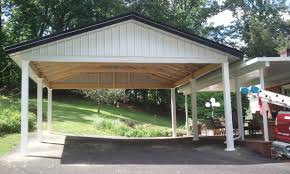 alluring carports design with two car garage space and wood originalviews