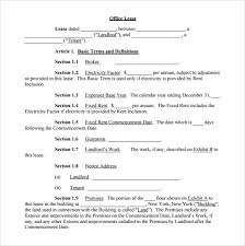 sample office lease agreement template commercial net lease