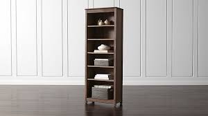 Crate And Barrel Bar Cabinet Ainsworth Walnut Bookcase Crate And Barrel