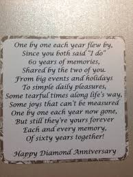 50th anniversary gift for parents diamond anniversary sentiment could be for 50th also if adapted