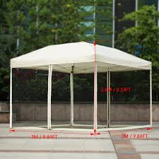 Outdoor Canopy For Patio by Beige Ikayaa 3 3 2 6m Folding Outdoor Patio Canopy Gazebo Tent