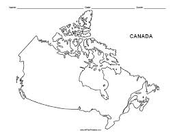 canada blank map geography canada outline maps