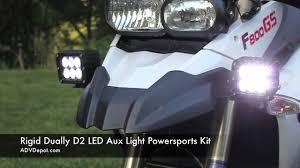 rigid industries led driving lights rigid dually d2 led aux light powersports kit youtube