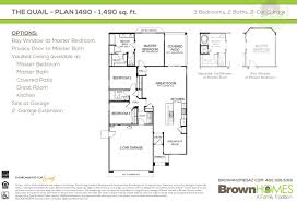 3 bedroom 2 bath 2 car garage floor plans mccartney center u2013 brown homes az